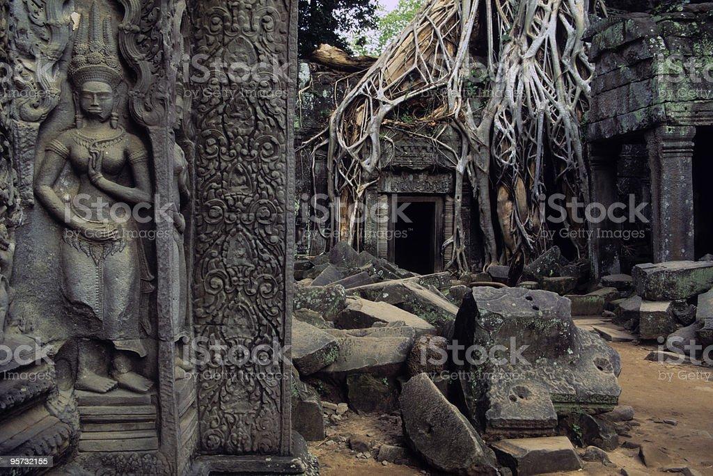 Ta Phrom Aspara, Angkor Wat, Cambodia royalty-free stock photo