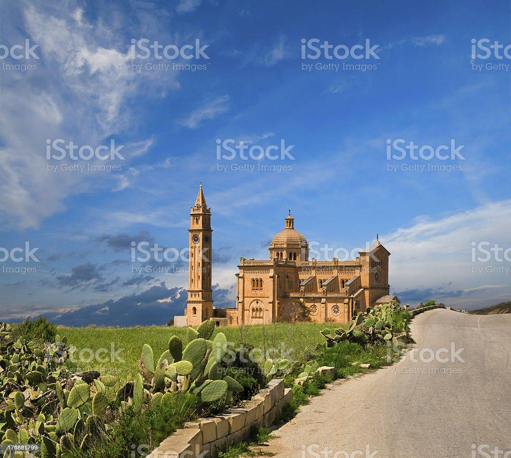 Ta' Pinu Church, Gharb village, Gozo, Malta stock photo