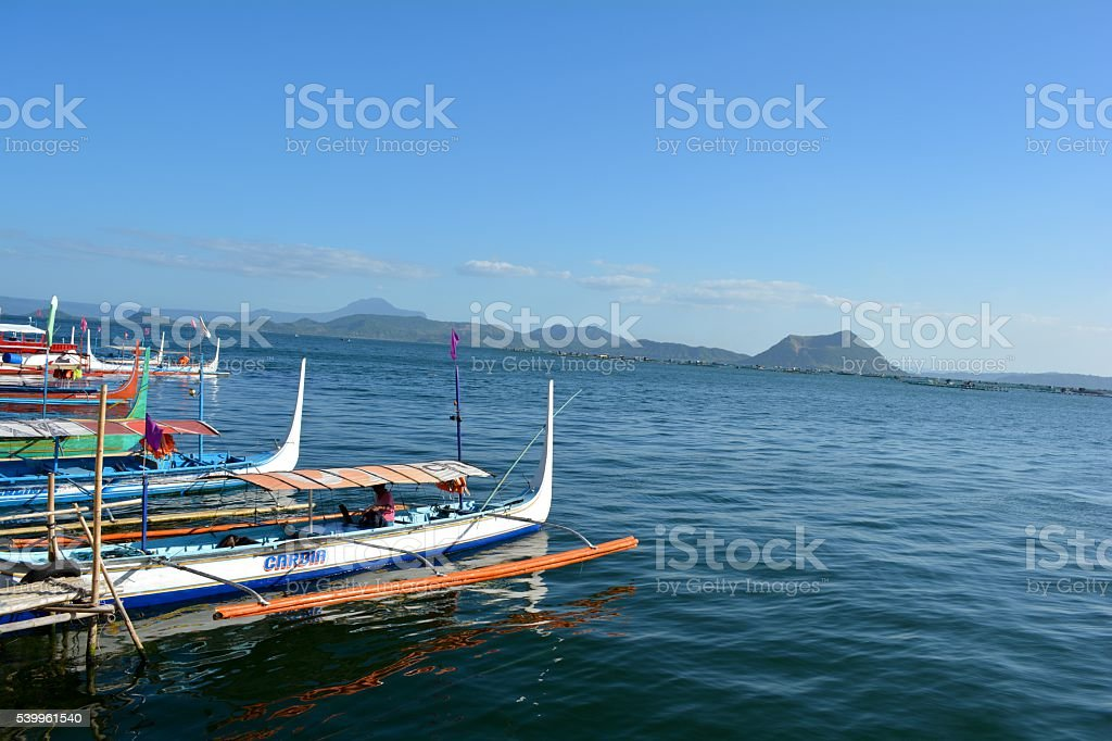 Taal Lake and the Taal Volcano stock photo