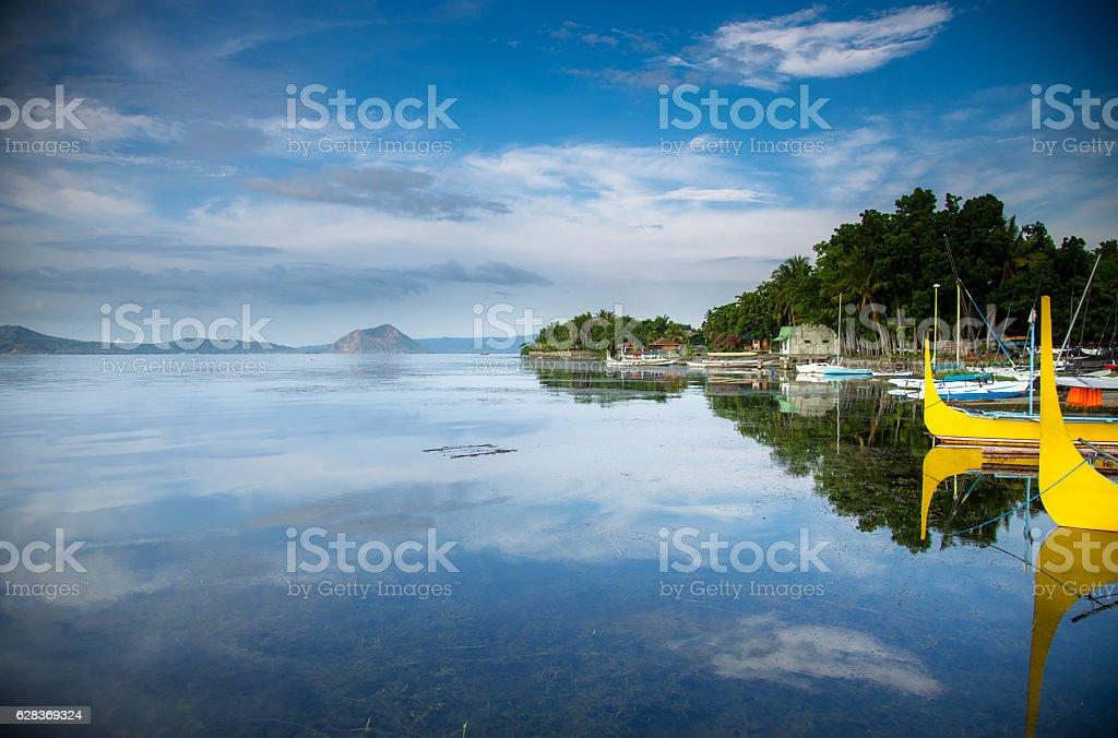 Taal Lake Boats stock photo