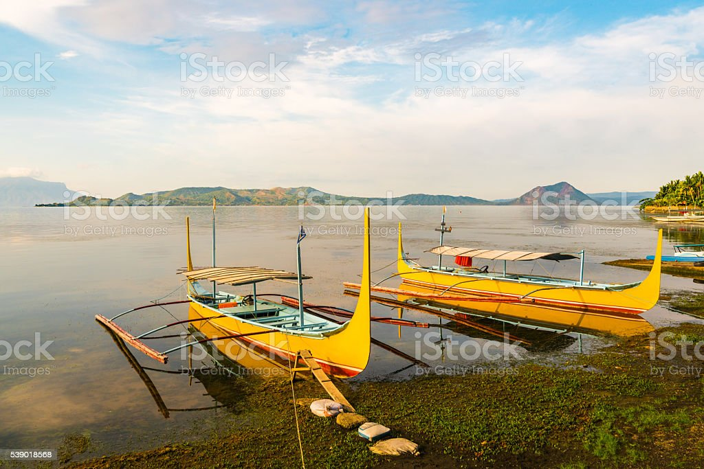 Taal Lake in Batangas, Philippines stock photo