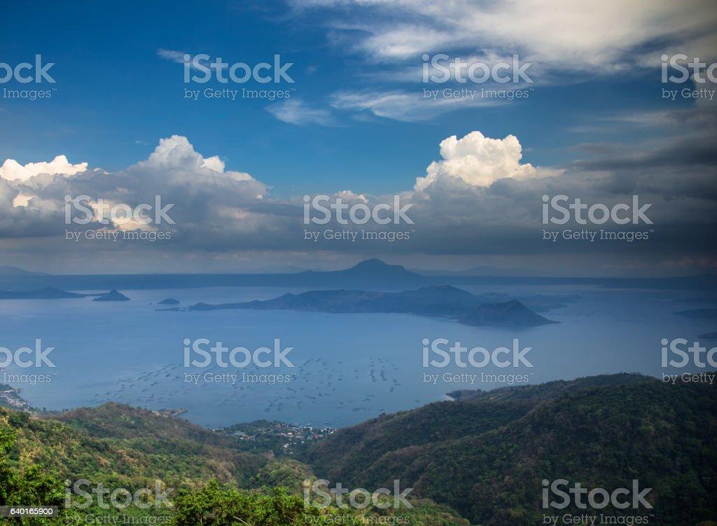 Taal Lake Landscape stock photo