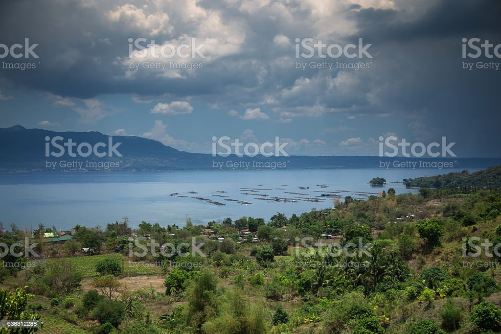 Taal Lake, The Philippines stock photo