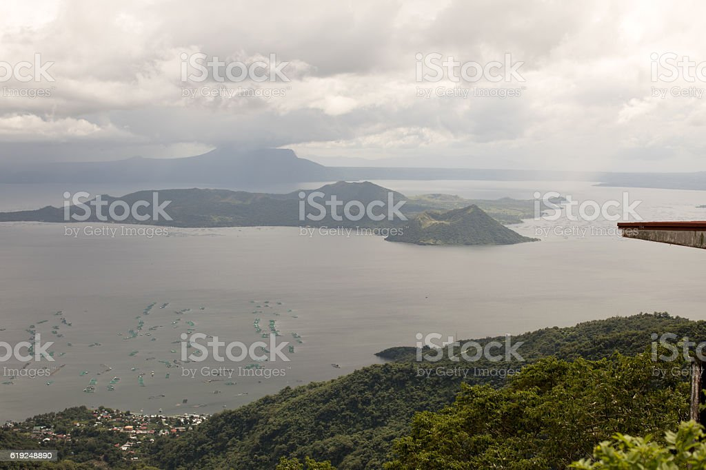 Taal Volcano in Tagaytay, Philippines stock photo