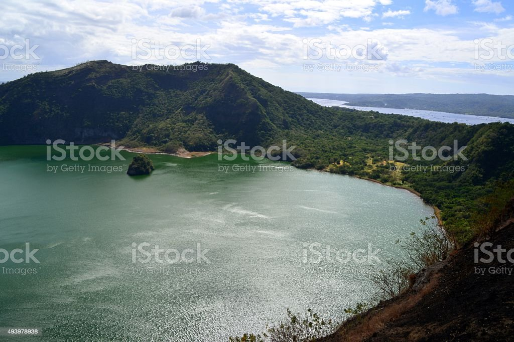Taal Volcano Island landscape, Philippines stock photo