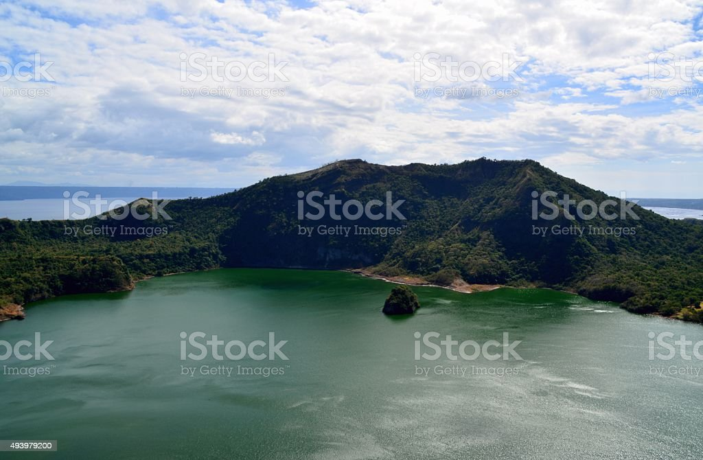 Taal Volcano Island landscape, Philippines stock photo