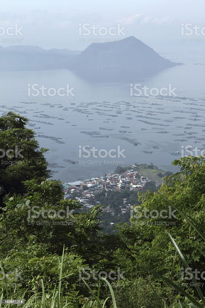 Taal volcano lake scenery in The Philippines stock photo