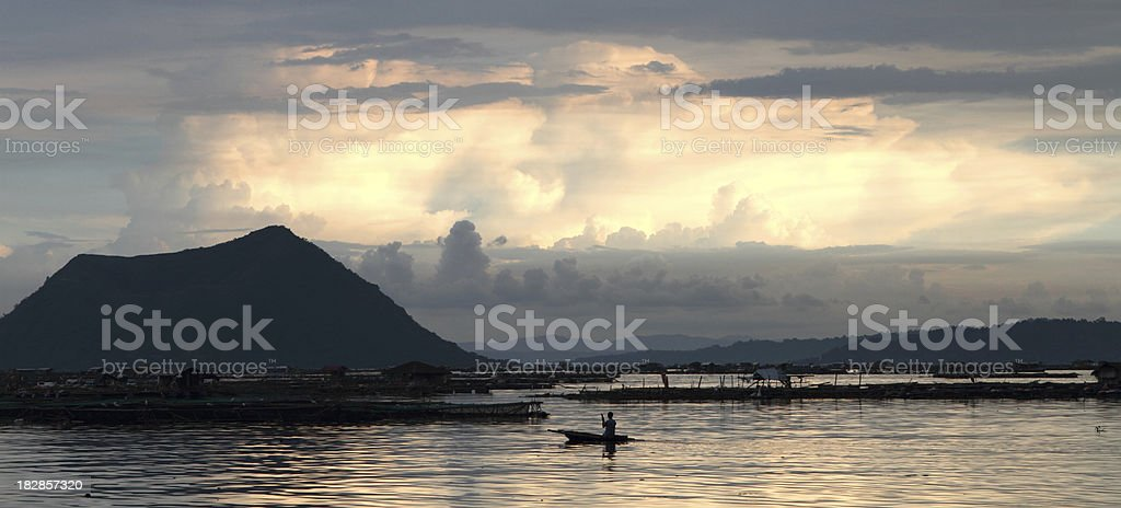 Taal volcano lake scenery stock photo