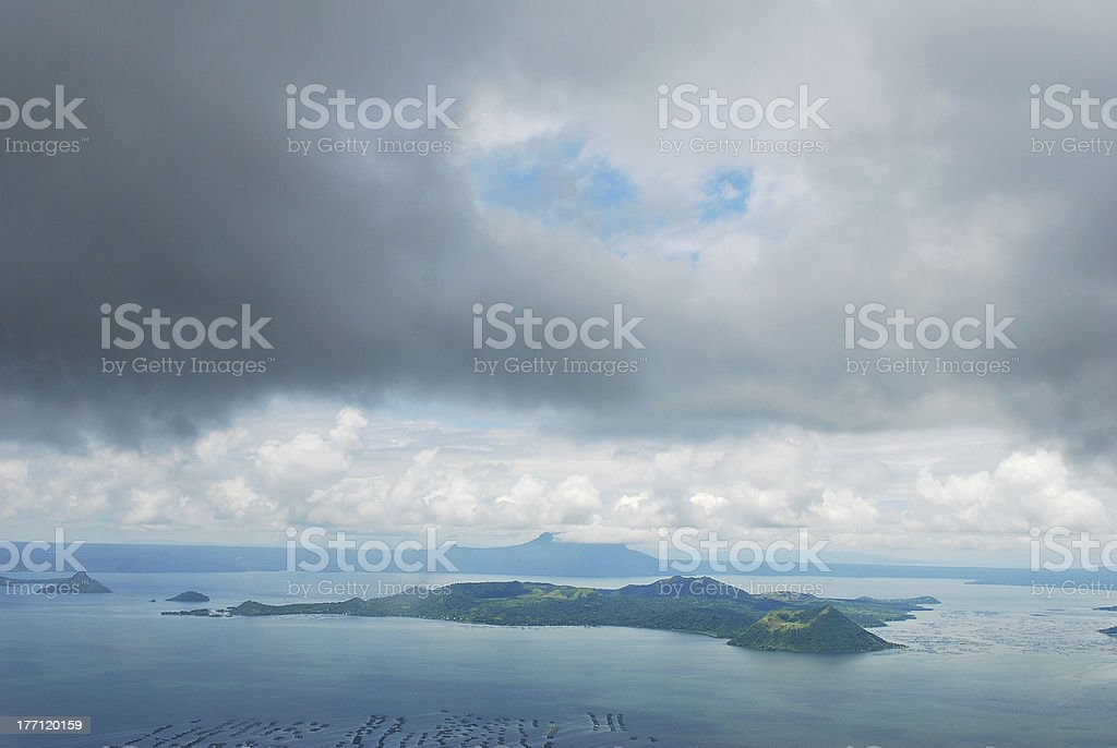Taal Volcano, Philippines stock photo