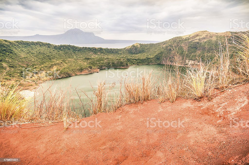 Taal Volcano - Philippines stock photo
