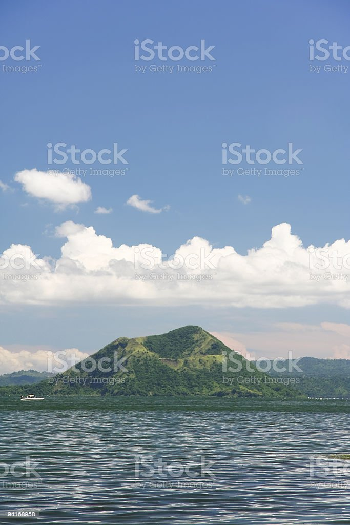 taal volcano philippines stock photo