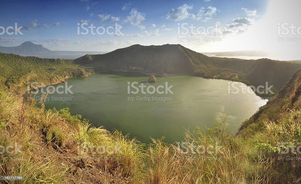 Taal Volcano stock photo
