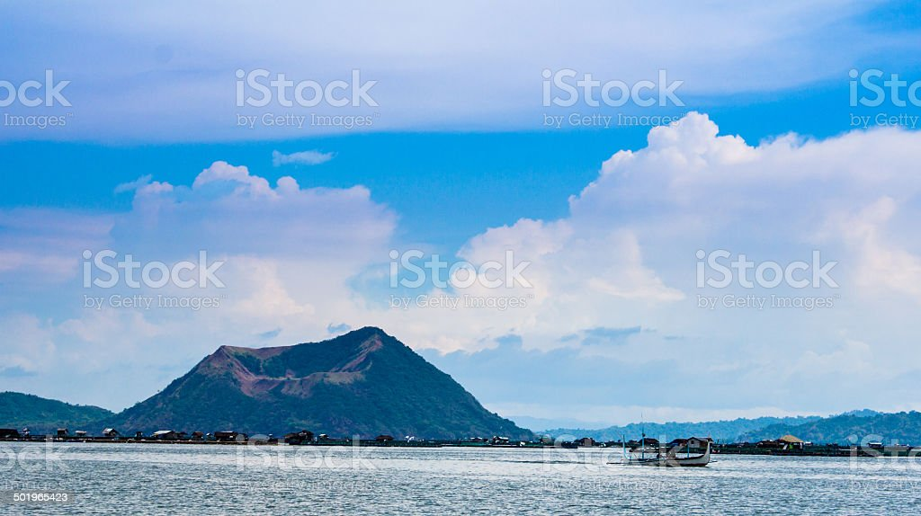 taal volcano stock photo