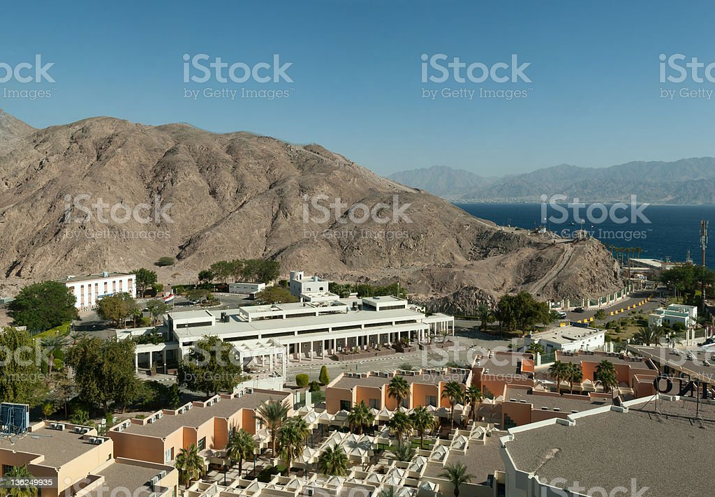 Taba land port and border control. royalty-free stock photo
