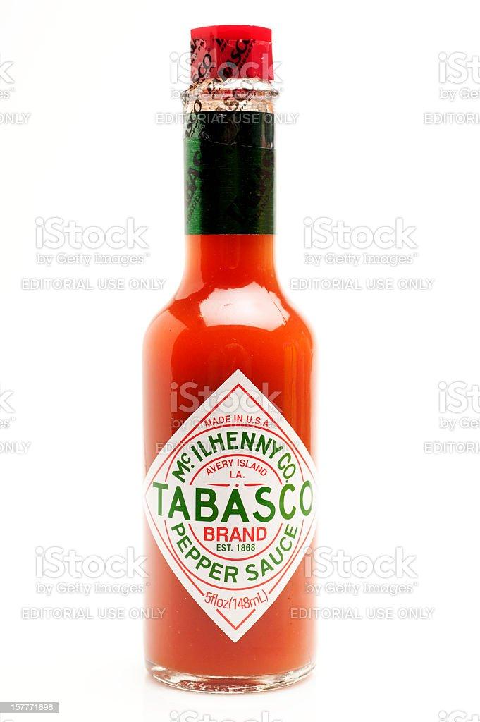 Tabasco Sauce stock photo