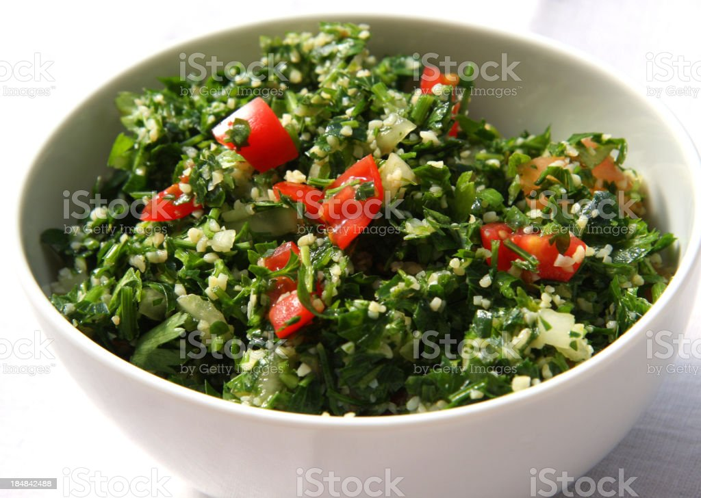 Tabbouleh salad stock photo