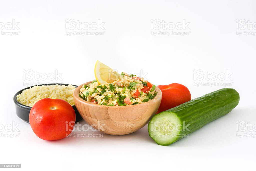 Tabbouleh salad with couscous stock photo