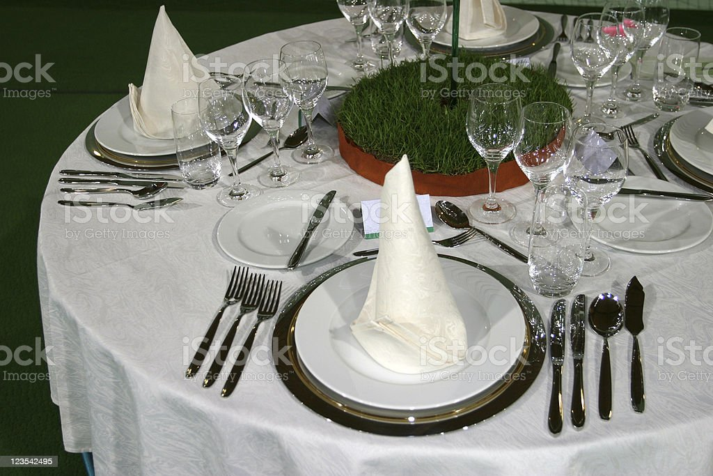 Tabel set for four royalty-free stock photo
