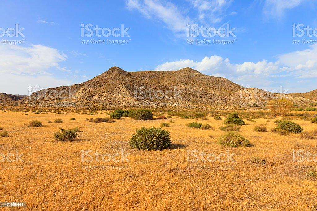 Tabernas desert, andalusia, spain, cinema movie location spaghetti western stock photo
