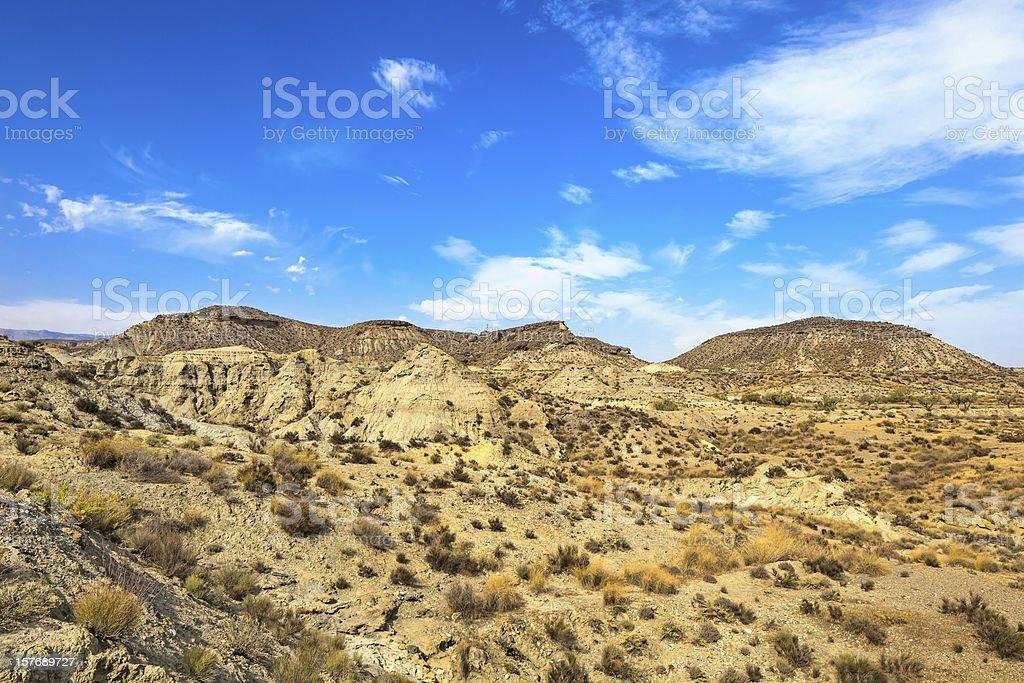 Tabernas desert mountains, andalusia, spain, cinema movie location spaghetti western stock photo