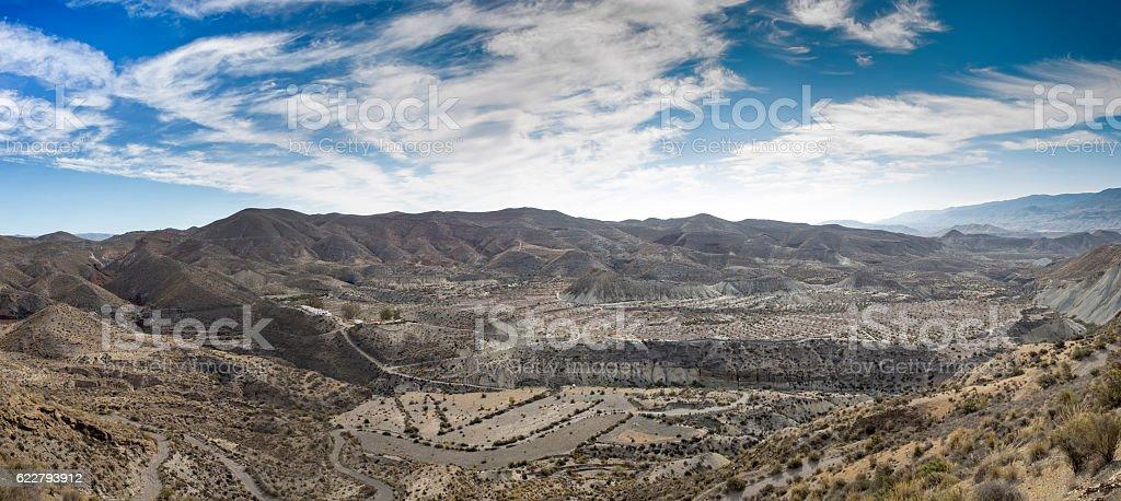 Tabernas Spanish desert stock photo