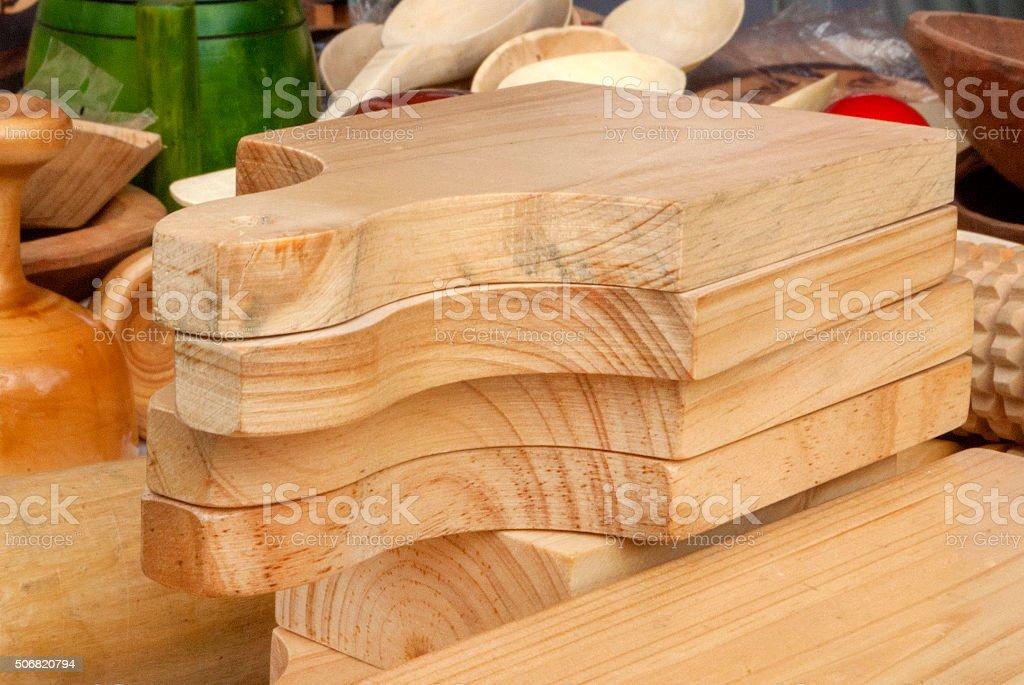 tabla de cocina en madera stock photo