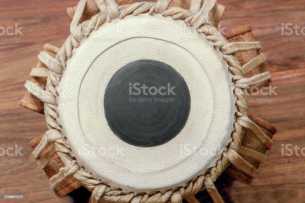 tabla drumhead stock photo