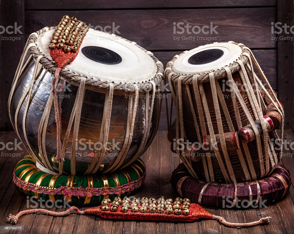 Tabla drums and bells for Dancing stock photo