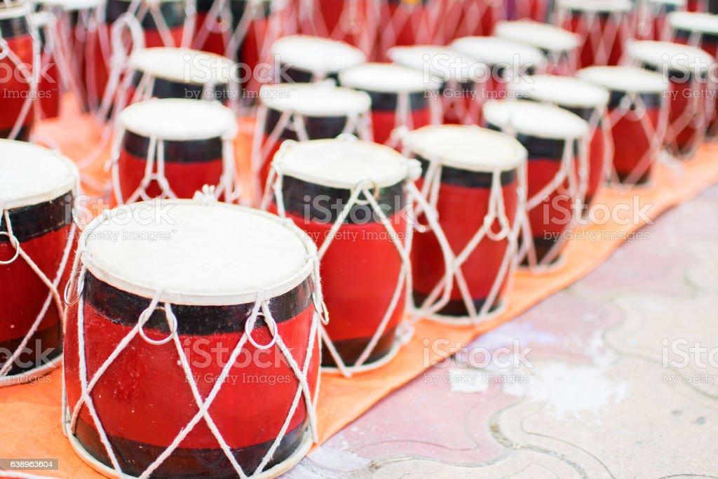 Tabla, handicraft items on display , Kolkata stock photo