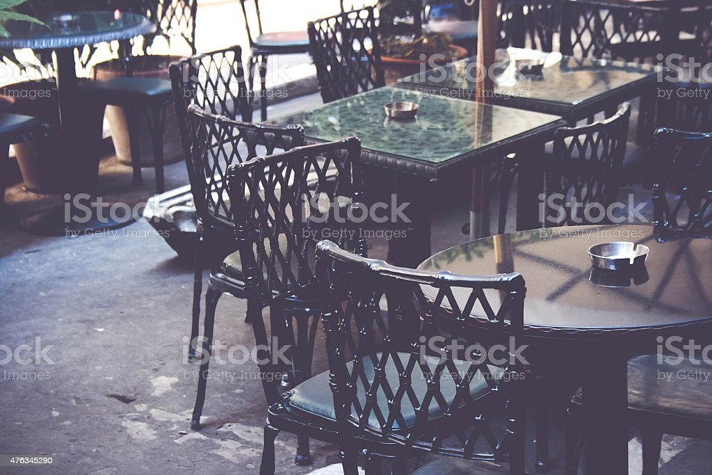 Table and Chairs, An abstract view stock photo