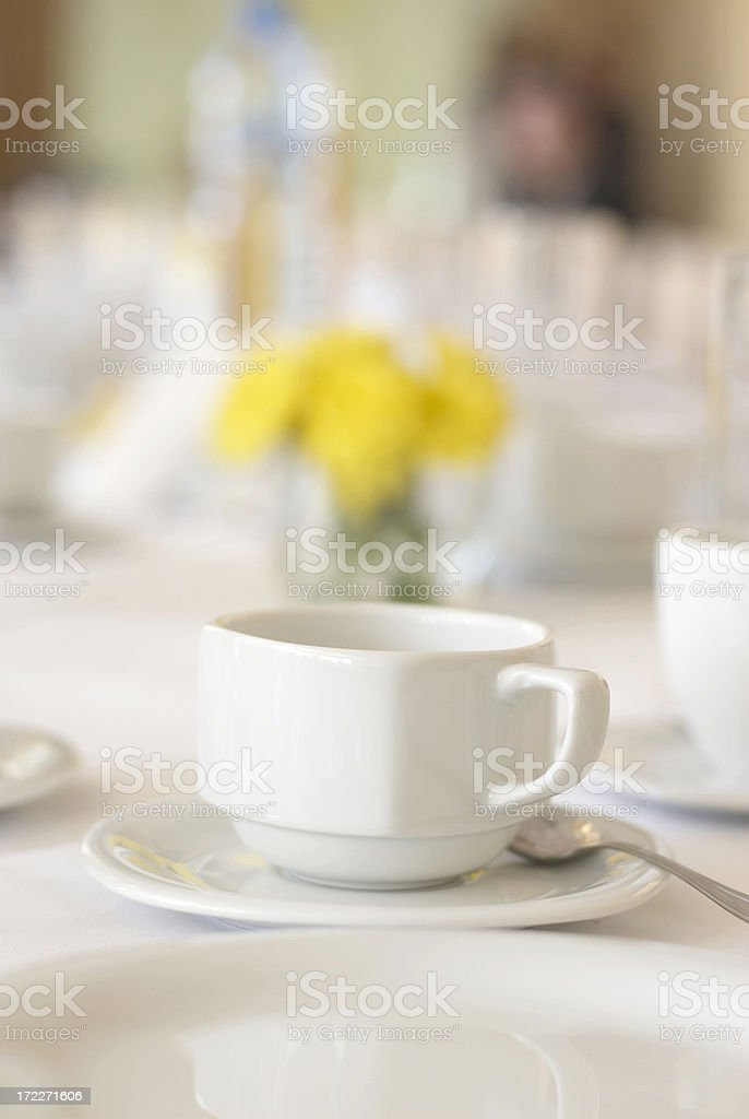 table and cup stock photo