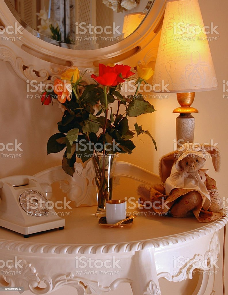 Table and Flowers royalty-free stock photo