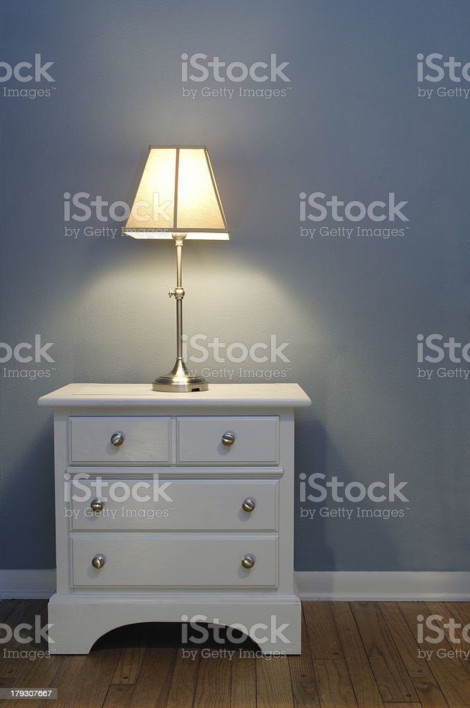 table and lamp stock photo