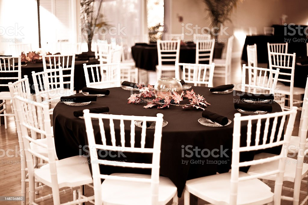 table arrangement at a wedding reception royalty-free stock photo