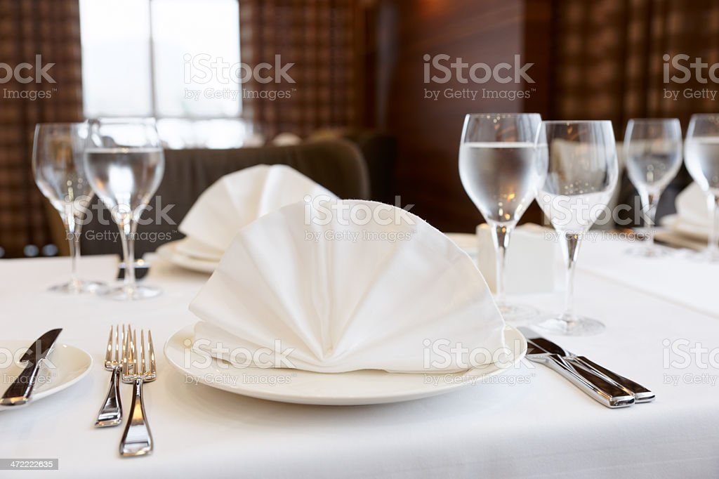 Table arrangement in an expensive restaurant royalty-free stock photo