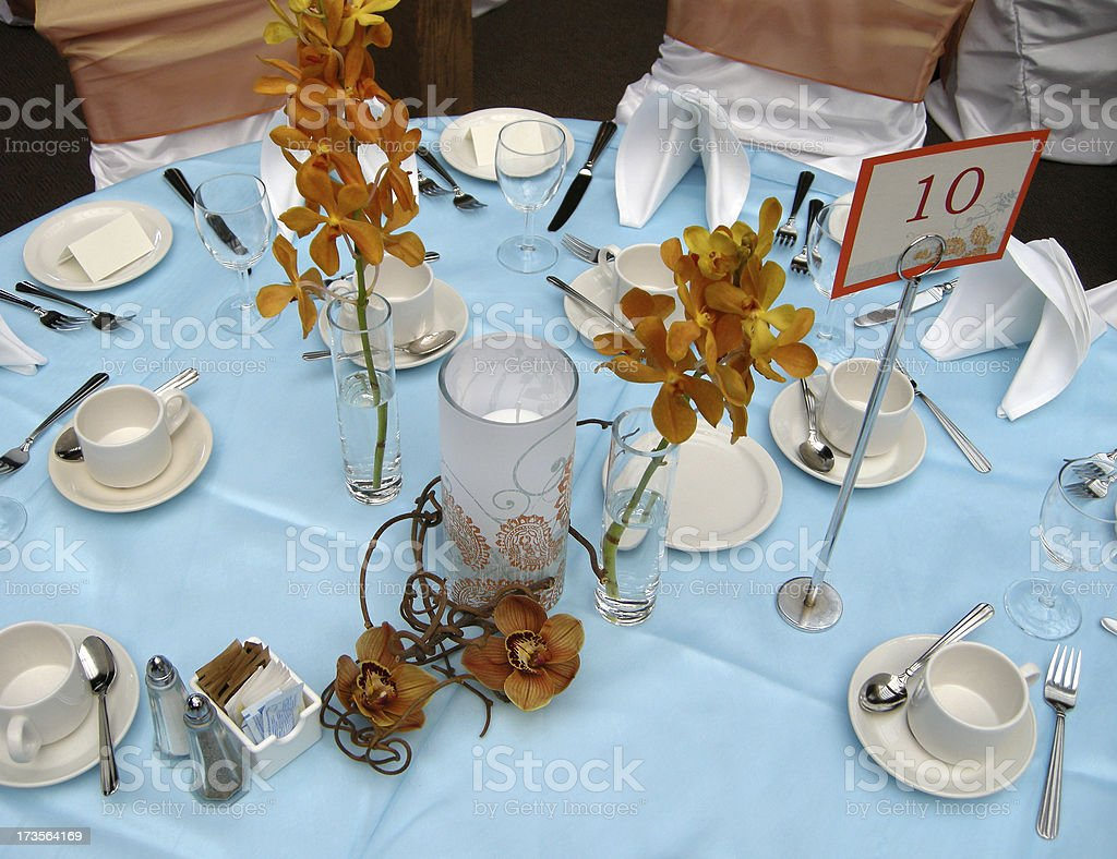 Table at a wedding royalty-free stock photo