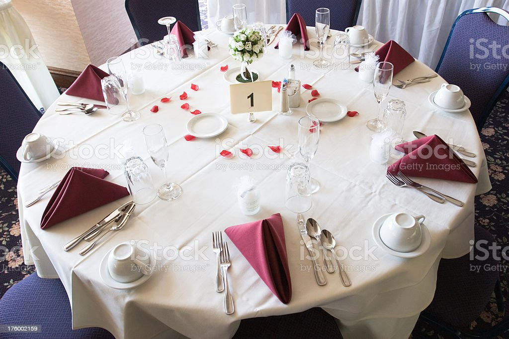 Table at reception royalty-free stock photo