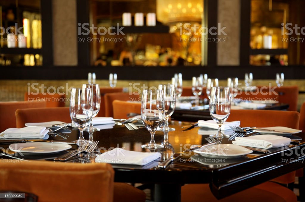Table at Restaurant royalty-free stock photo