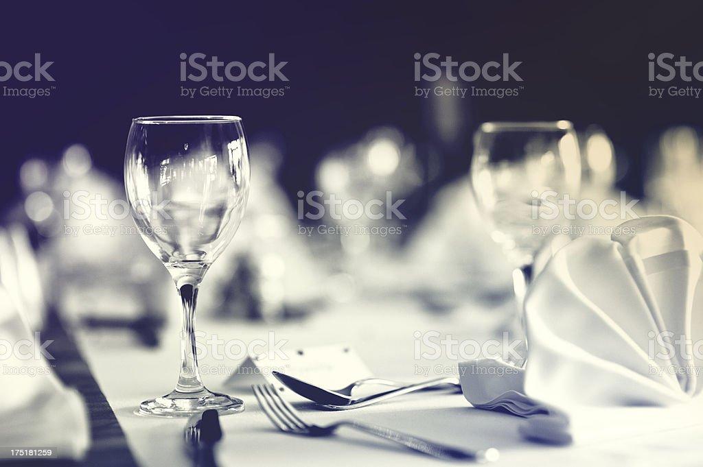 Table at Weding Reception, Close-up royalty-free stock photo