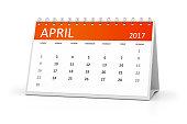 table calendar 2017