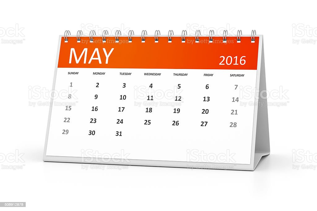 table calendar stock photo