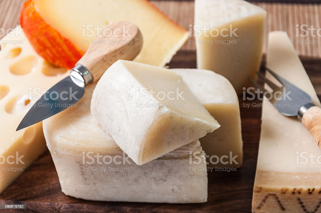Table cheese stock photo