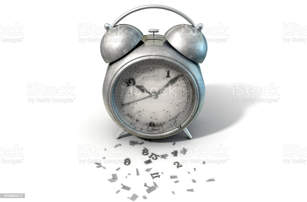 Table Clock Time Running Out stock photo