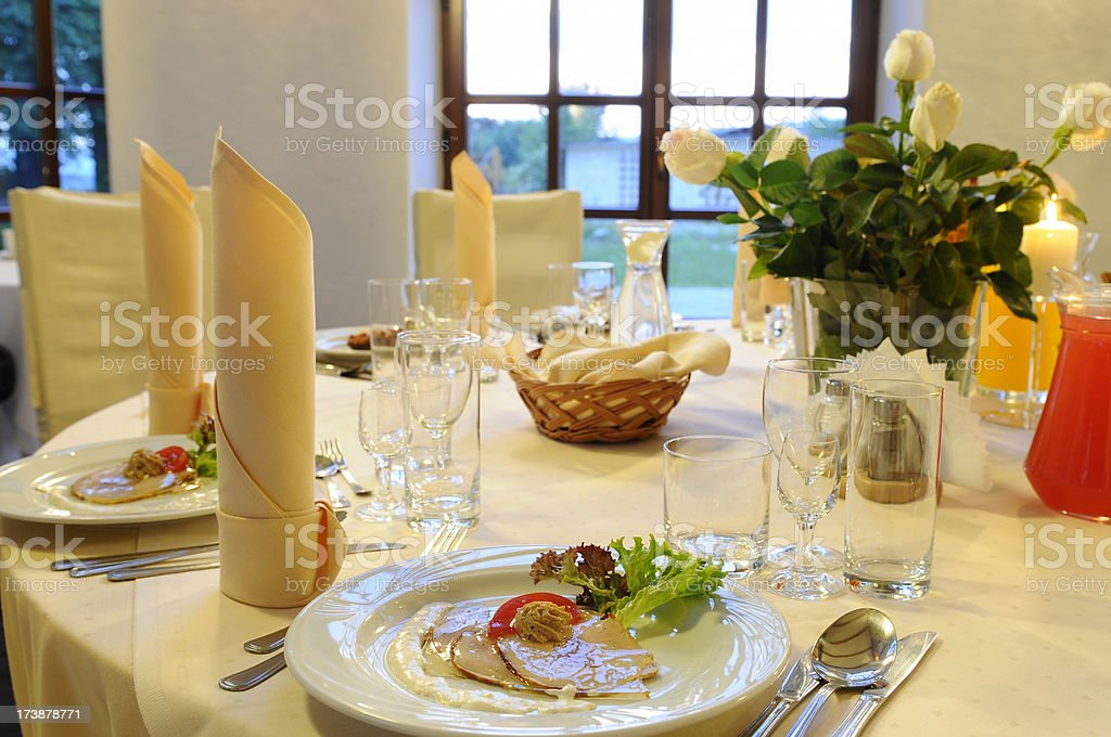 Table covered! royalty-free stock photo