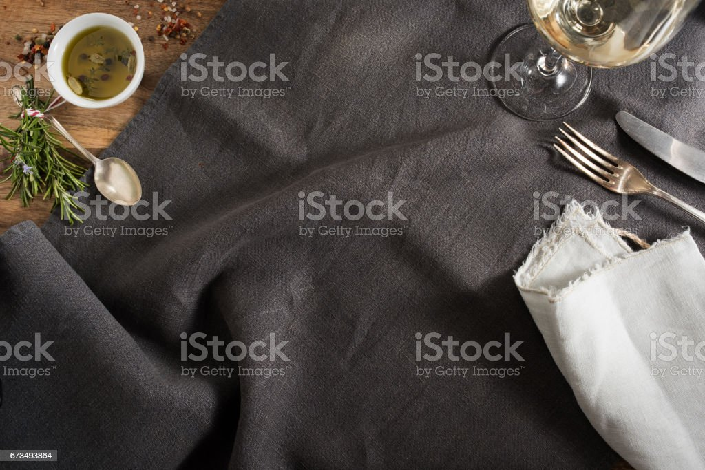 Table decoration for a dinner stock photo