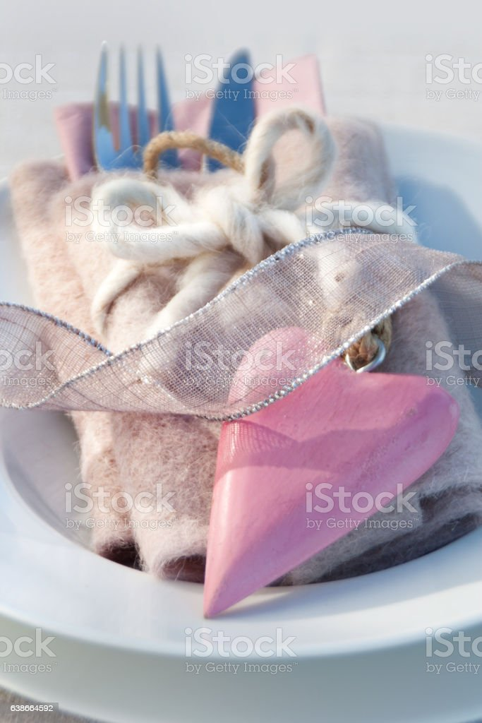 Table decoration for mothers day stock photo