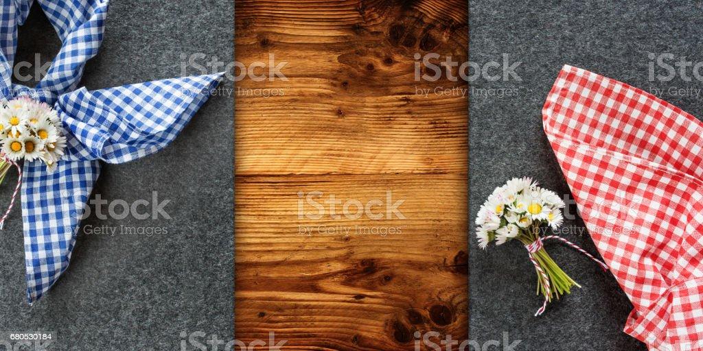 Table decoration for Oktoberfest stock photo
