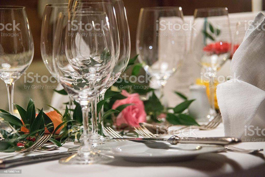 table decoration ornament stock photo