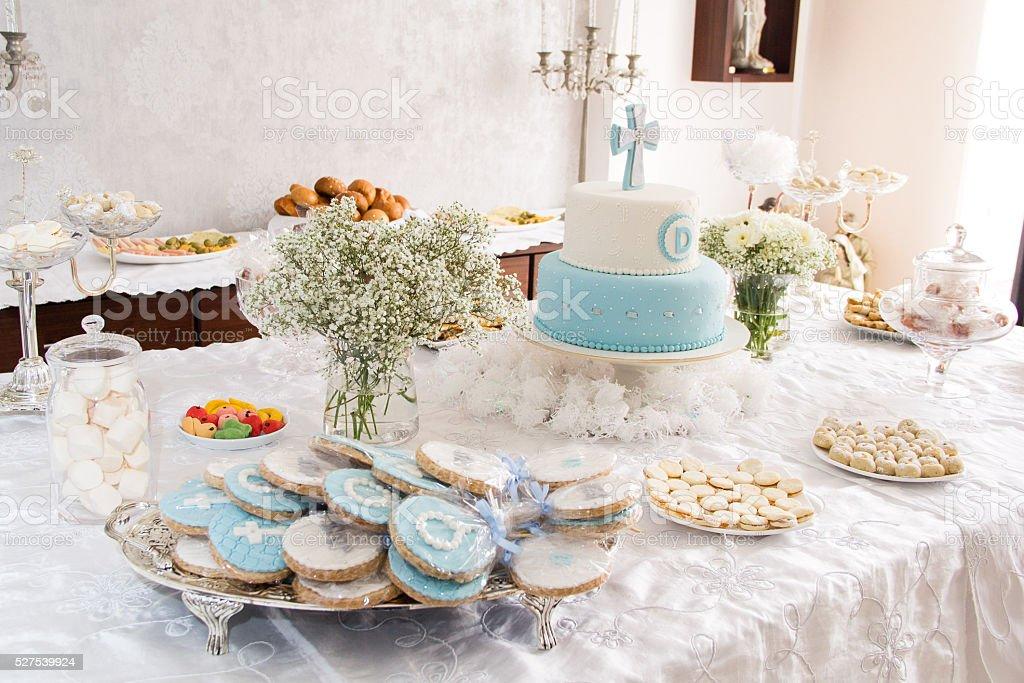 Table decoration stock photo
