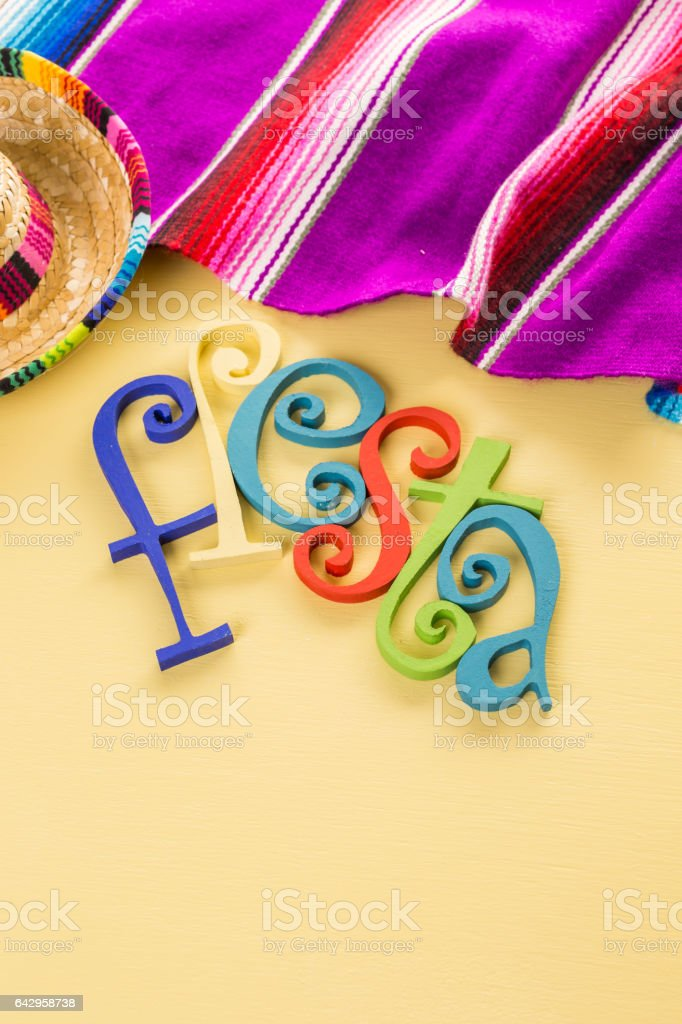 table decorations for celebrating Fiesta stock photo